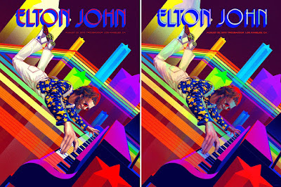 Elton John Troubadour 50th Anniversary Concert Poster Screen Print by Kevin Tong x Collectionzz