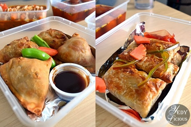 Samosa and Puff Pastry at Green Dot Vegetarian Catering and Food Delivery Service Manila