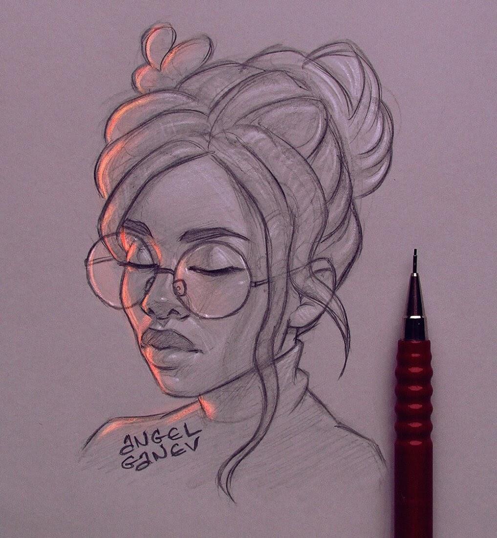 09-Resting-Angel-Ganev-Luminous-Pencil-Portraits-that-Glow-www-designstack-co