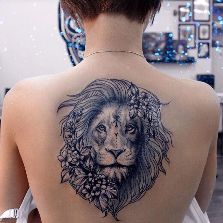 lion-tatouage féminin-1
