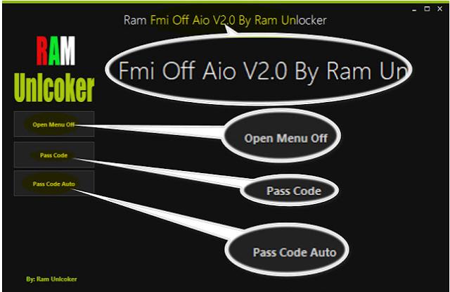 RAM FMI OFF TOOL V2.0 Free Download By ❤RAM Unlocker
