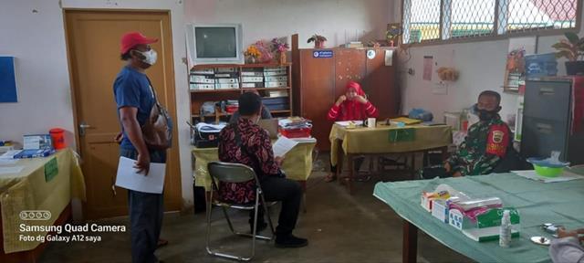 Dikantor Desa Personel Jajaran Kodim 0207/Simalungun Laksanakan Komunikasi Sosial