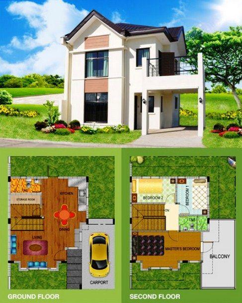 Denah Rumah Minimalis 2 Lantai Dan Tampak Depan