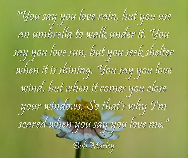 You say you love rain