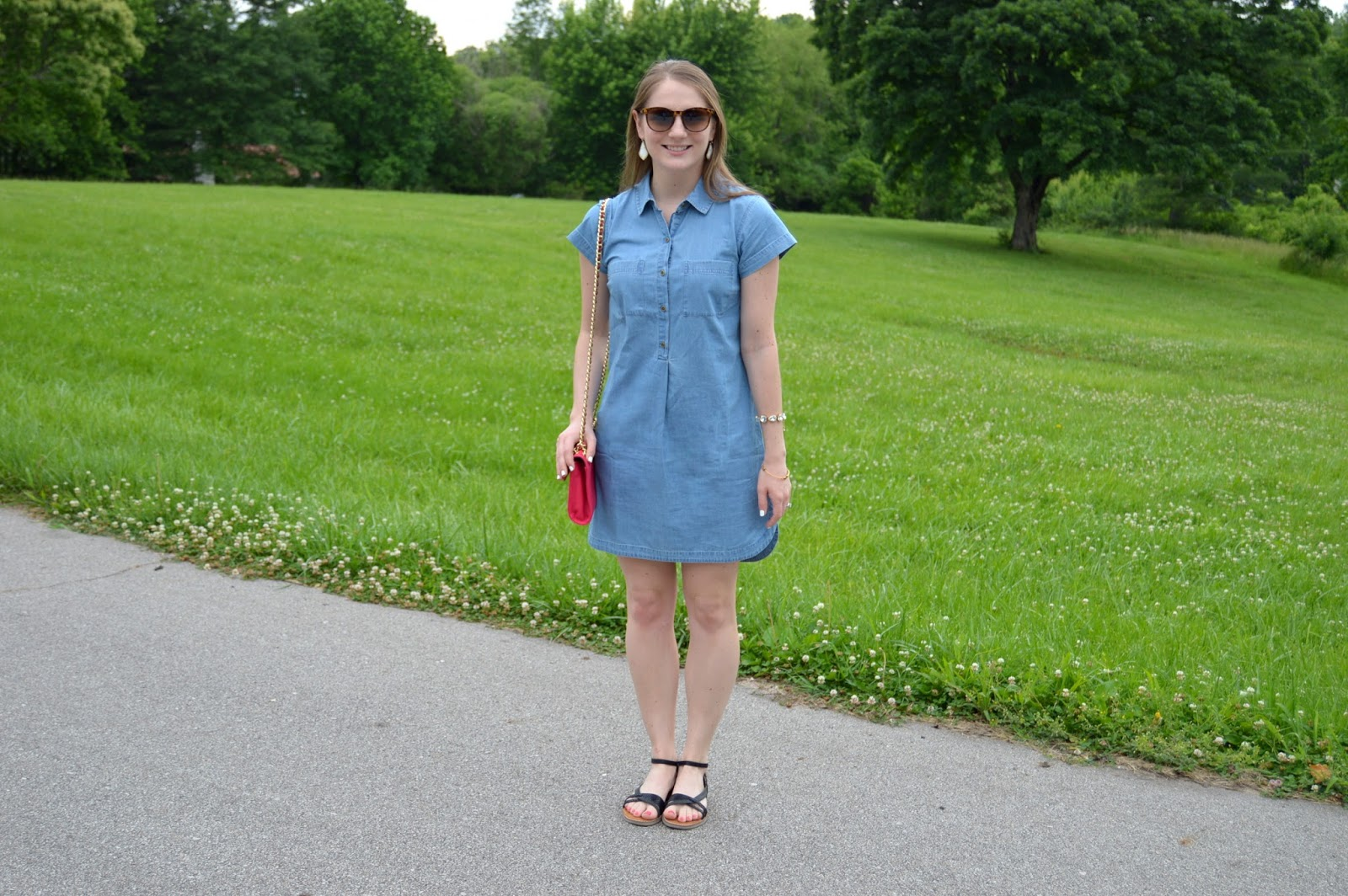 light wash chambray dress | how to style a chambray dress for summer | what to wear with a chambray dress | light wash chambray dress | what looks good with chambray | chambray styling ideas | summer lookbook | summer outfits | a memory of us