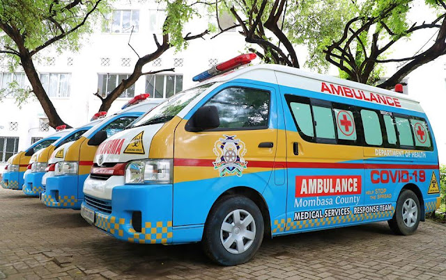Mombasa county special ambulances for critical cases.