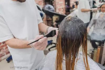 كيفية صبغ الشعر في البيت