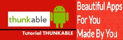 Crea la tua app Android; con Thunkable, facile, gratis, direttamente dal browser preferito.