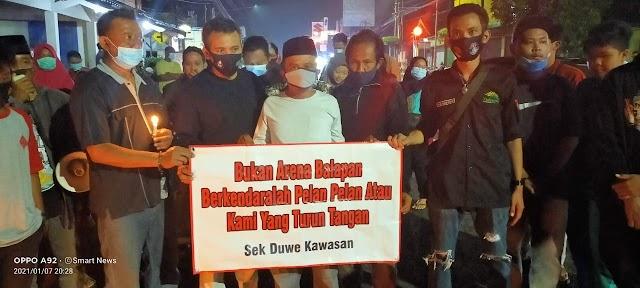 Doa bersama untuk mengenang Devina korban kecelakaan di ruas jalan KH Agus Salim berlangsung khidmat