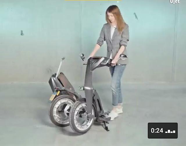 1.kini hadir skuter listrik yang dapat di lipat layaknya sepeda