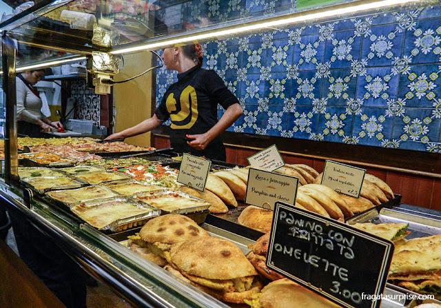 Balcão de comida rápida em Roma