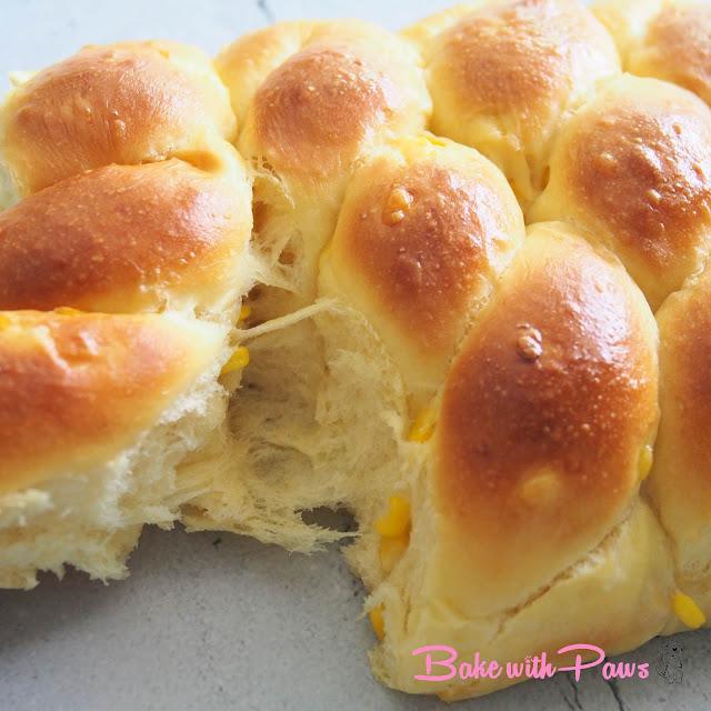 Sweet Corn Soft Sourdough Bread