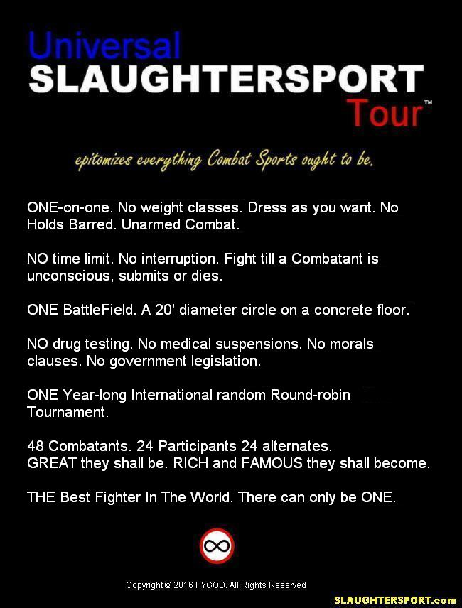 UST™ Universal SLAUGHTERSPORT Tour™  Constitution  7 Commandments