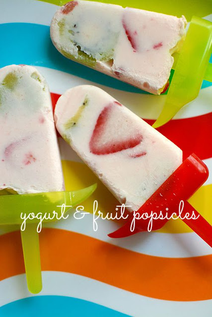 yogurt and fruit popsicles | My Darling Days