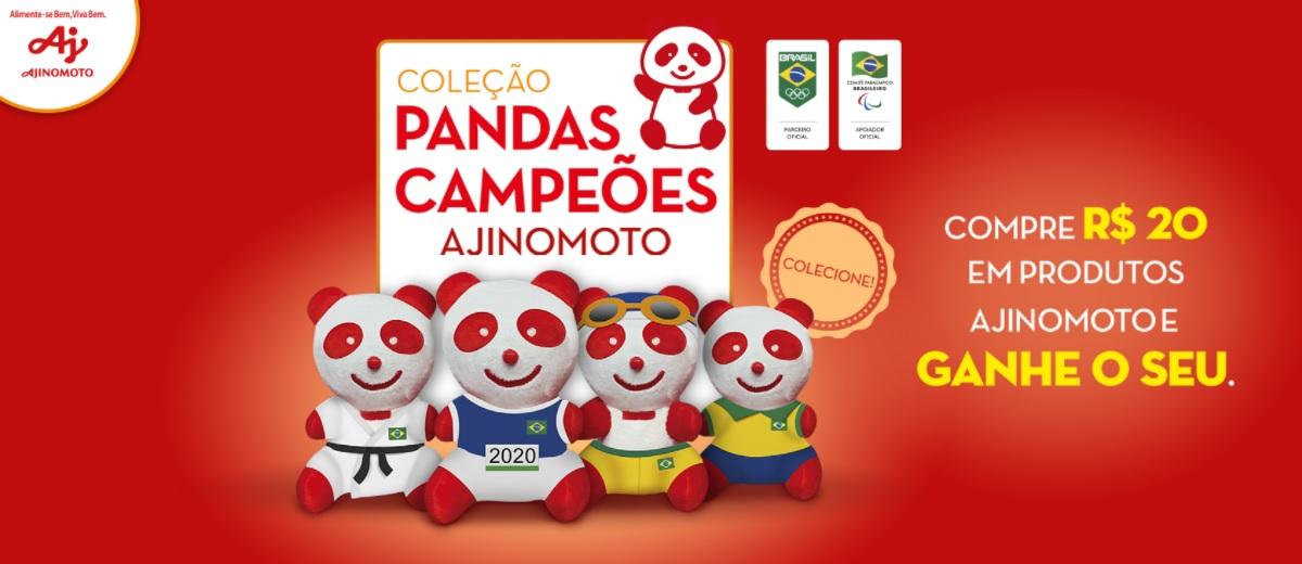 Promoção Pandas Pelúcia Ajinomoto 2021