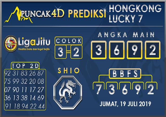 PREDIKSI TOGEL HONGKONG LUCKY7 PUNCAK4D 19 JULI 2019