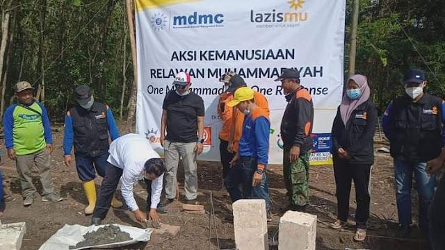 Pembangunan Ulang Rumah Dilaksanakan Lazismu Bersama One Muhammadiyah Response di Bojonegoro