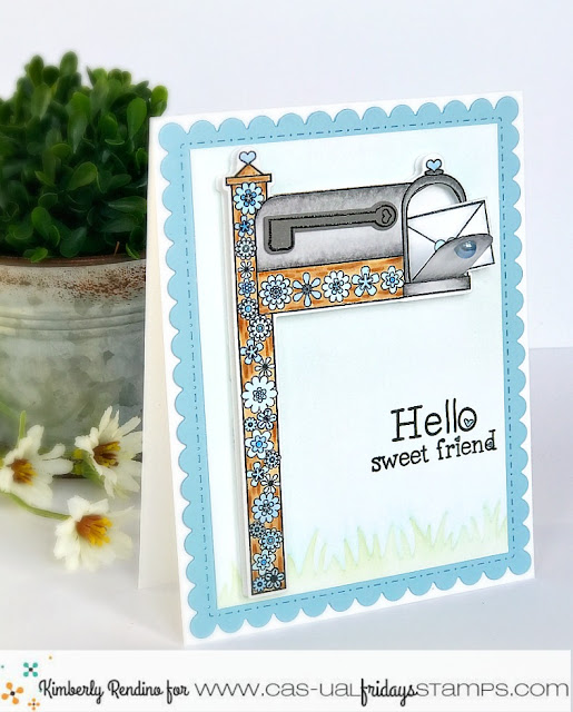 Mailbox Card by Kimberly Rendino | CAS-ual Fridays Stamps | handmade card | happy mail | kimpletekreativity.blogspot.com