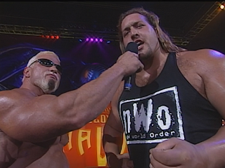 WCW Halloween Havoc 1998 - Scott Steiner and The Giant challenge Rick Steiner & Buff Bagwell to a match