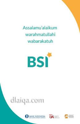 halaman awal aplikasi BSI Mobile