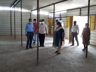 कलेक्टर एवं एसपी ने ग्राम ककराना में पुनर्वास स्थल का निरीक्षण किया
