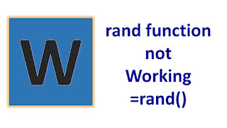 rand() word not working