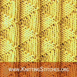 KNITTING PATTERN - Flying Geese stitch pattern #knitpurl #knittingpattern
