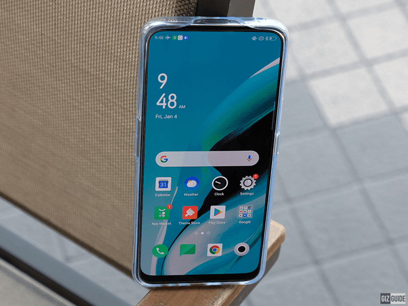 OPPO Reno2 F with the included case