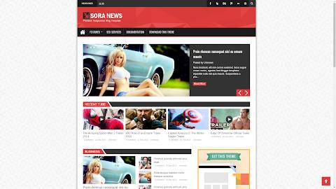 Mẫu Sora News Responsive Blogger Template (Giá 50K)