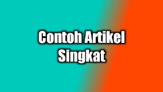 Contoh Artikel Singkat