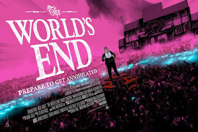 The World's End Movie Poster Variant Screen Print by Jock x Mondo