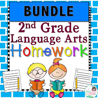 2nd Grade Language Arts Spiral Review and Homework