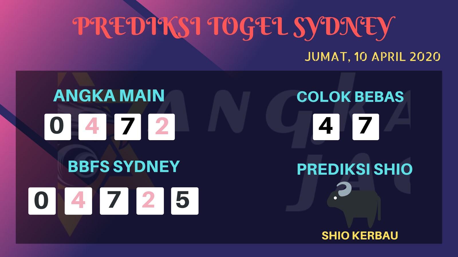 Syair Sidney Jumat 10 April 2020 - Prediksi Angka Sidney