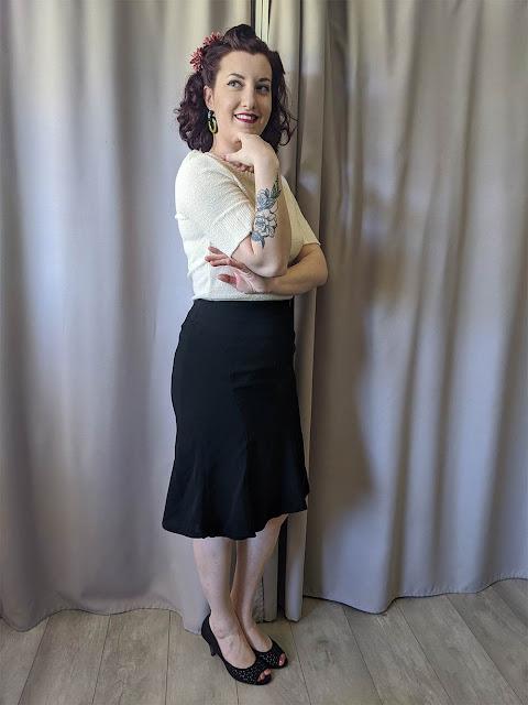 Look rétro vintage style années 40 et mon tatouage floral