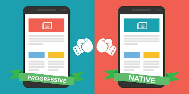 aplikasi Hybrid, Aplikasi Native dan Aplikasi Web Progresif