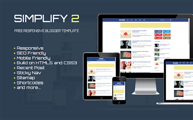 Simplify 2 Pro Clean Responsive Design Blogger Template Download