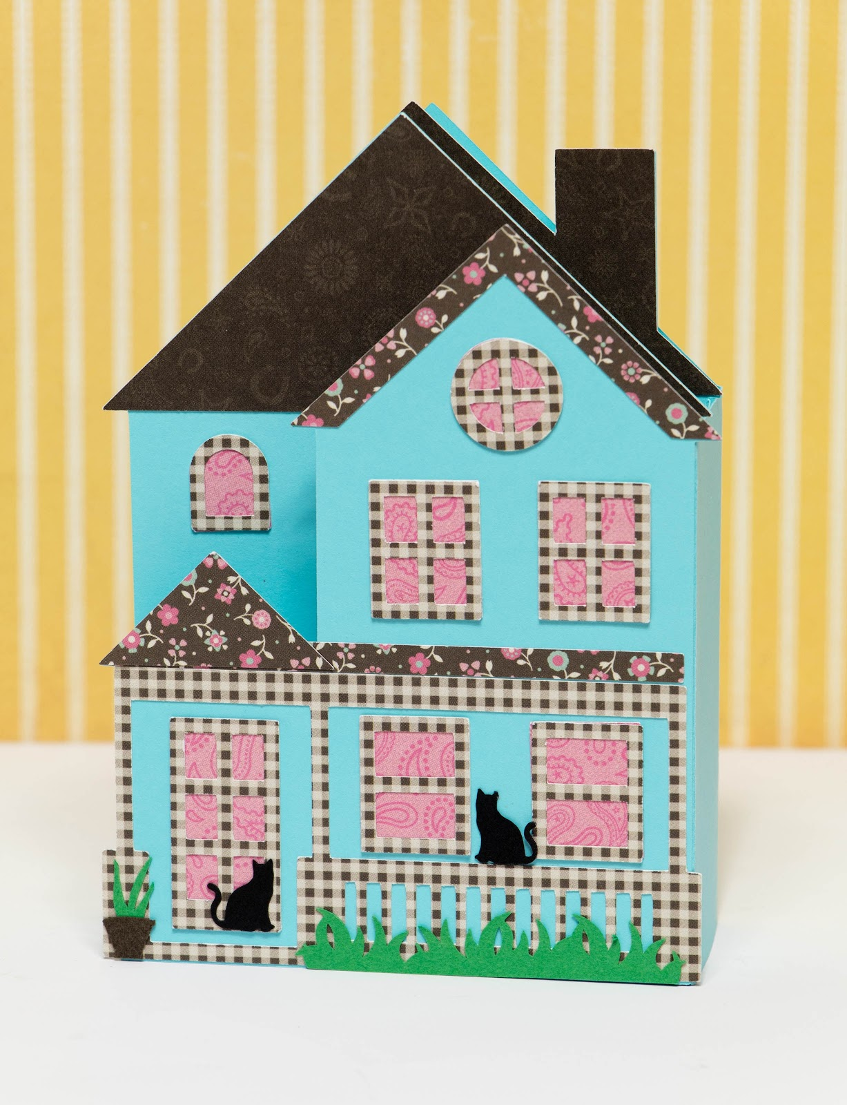 The Paper Boutique House Shaped Box Card
