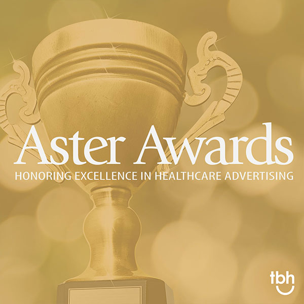 TBH Creative won two 2020 Aster Awards for excellence in healthcare web design and healthcare marketing