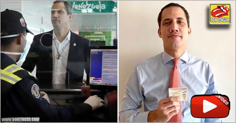 A Juan Guaidó le devolvieron su Cédula de Identidad robada en Maiquetía