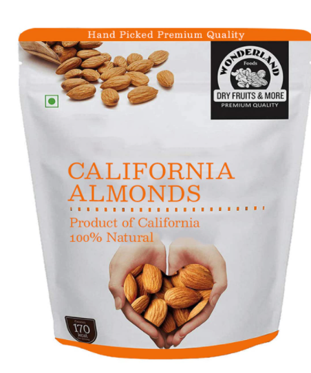 WONDERLAND FOODS (DEVICE) California Healthy and Tasty Dry Fruit Nut Raw Almonds -1 Kg