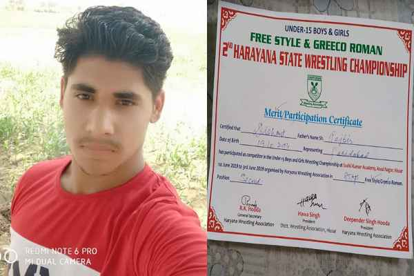dishant-malik-faridabad-jawa-village-win-silver-medal-in-wrestling