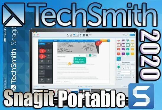 تحميل برنامج SnagIt 2020 Portable لعمل الشروحات الاحترافية على الصور نسخة محمولة مفعلة