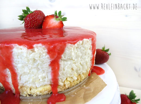 No Bake Strawberry & Cream Milchreis-Törtchen | Foodblog rehlein backt