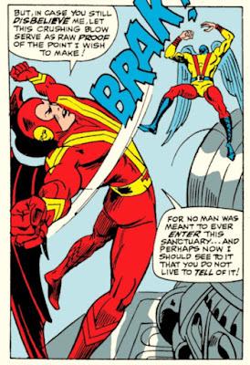 X-Men #44,  Red Raven vs the Angel