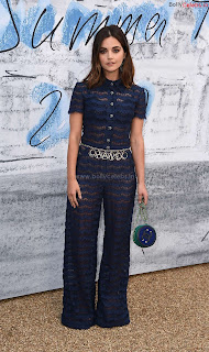 Jenna Coleman in beautiful Blue See Through Jumpsuit ~ bollycelebs.in Exclusive Celebrity Pics 010
