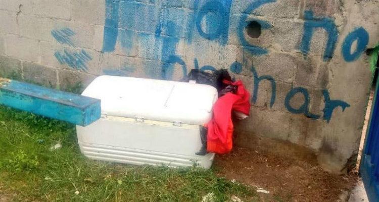 Fotos, Abandonan cadáver dentro de hielera en Iztapalapa