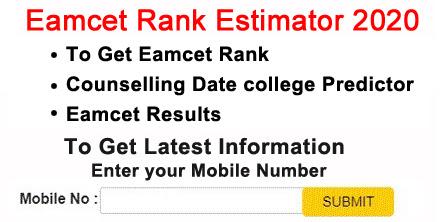 Eamcet Rank Estimator 2020