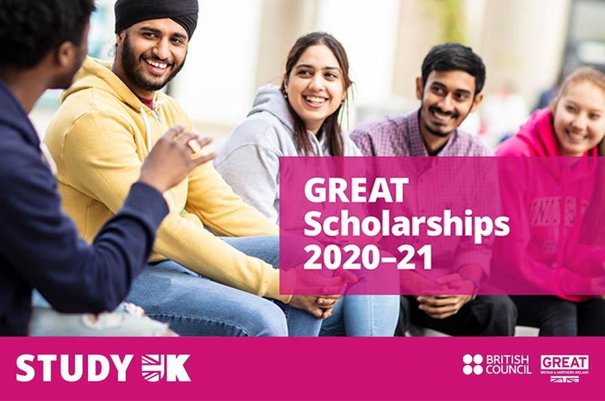 2020 British Council GREAT China Scholarship £10,000