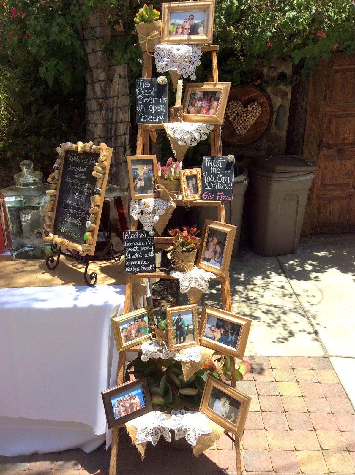 Wooden Crate Wedding Decor