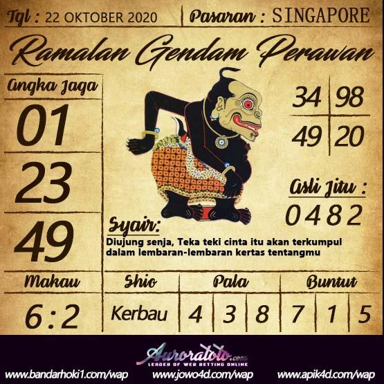 Kode syair Singapore Kamis 22 Oktober 2020 131